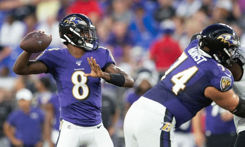 Lamar Jackson of the Baltimore Ravens