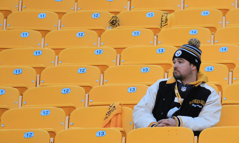 Steelers Fan Alone