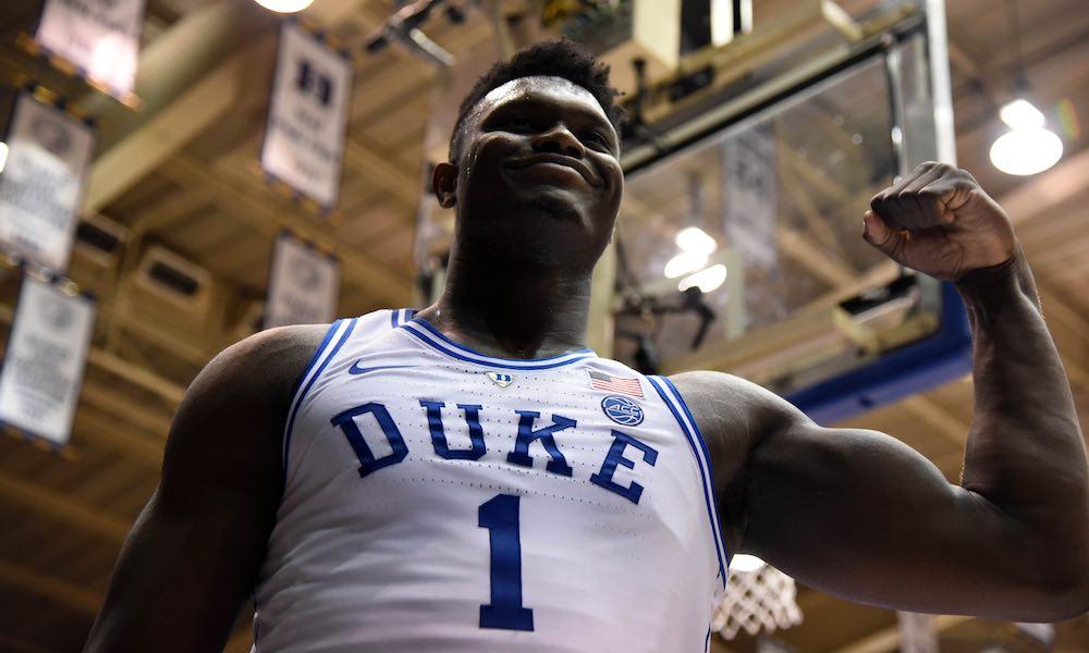 Zion Williams of the Duke Blue Devils